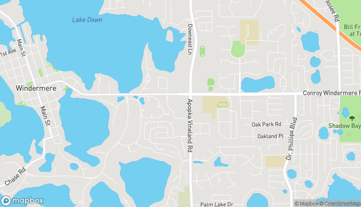 Mapa de 4757 The Grove Dr en Windermere