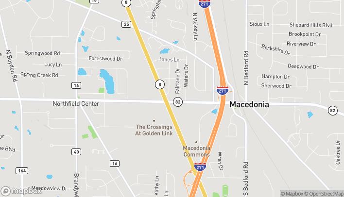 Map of 463 East Aurora Road in Macedonia