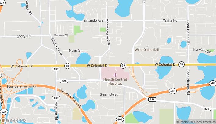 Mapa de 10165 W Colonial Drive en Ocoee