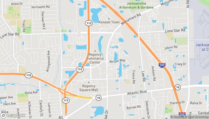 Map of 9585 N Regency Square Blvd in Jacksonville