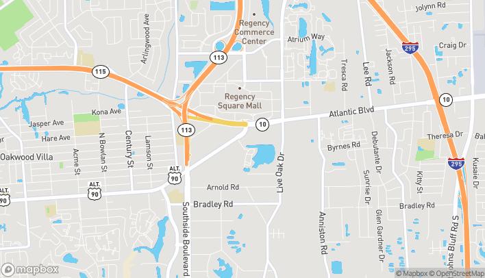 Mapa de 9498 Atlantic Blvd en Jacksonville
