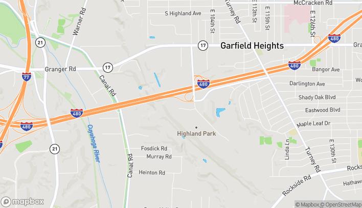 Map of 9561 Vista Way in Garfield Heights