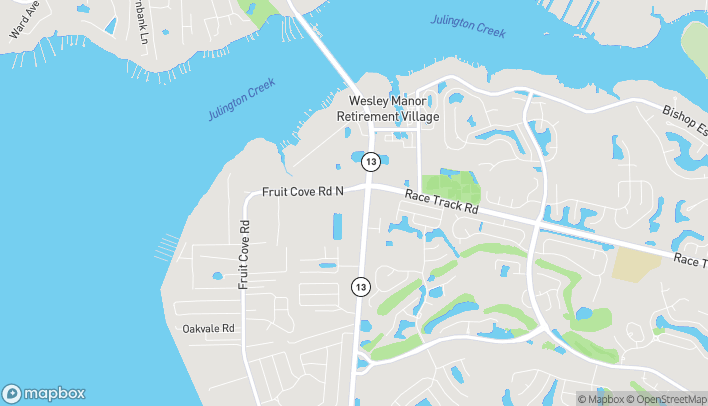 Map of 450 State Road 13 North in Saint Johns