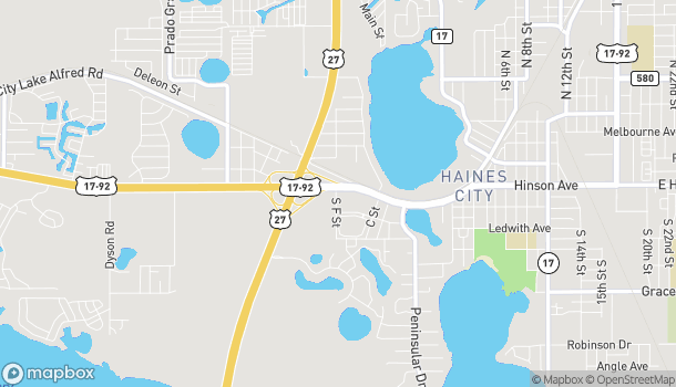 Map of 641 Us Hwy 17-92 W in Haines City