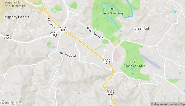 Mapa de 1760 Blowing Rock Rd en Boone