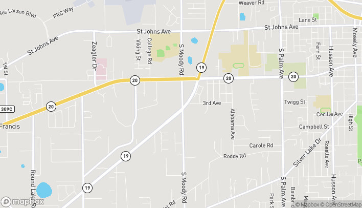 Map of 850 S. Moody Rd in Palatka