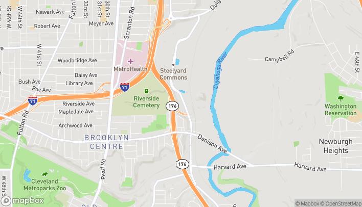 Mapa de 3606 Steelyard Drive en Cleveland