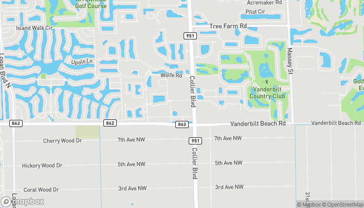 Map of 7550 Mission Hills Dr in Naples