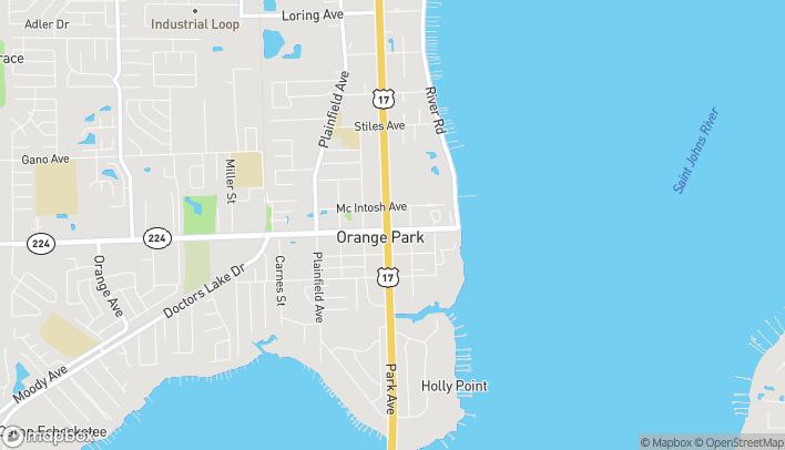 Map of 1963 Park Avenue in Orange Park