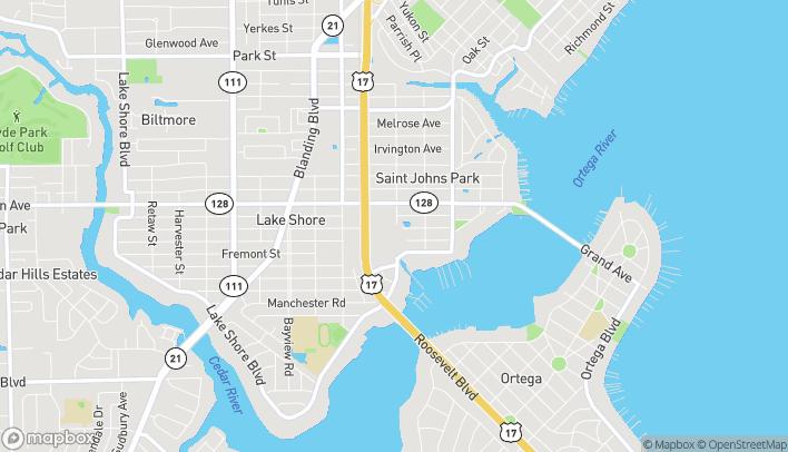 Map of 4495 Roosevelt Blvd in Jacksonville