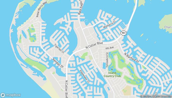 Mapa de 949 N Collier Blvd en Marco Island