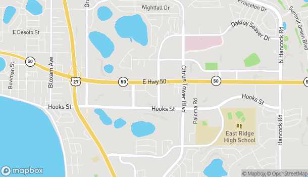 Mapa de 1500 Oakley Seaver Drive en Clermont
