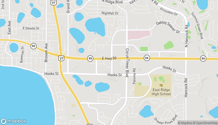 Map of 1500 Oakley Seaver Drive in Clermont