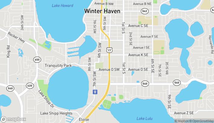 Mapa de 1107 3rd St SW en Winter Haven