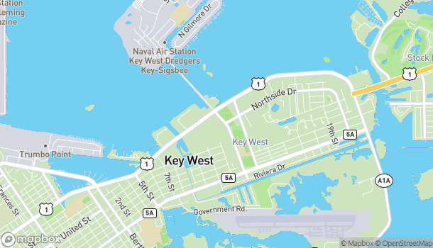 Mapa de 1113 Key Plaza en Key West