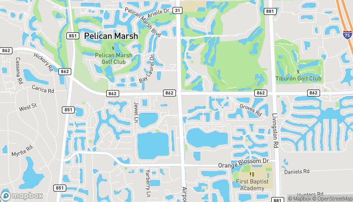 Mapa de 2400 Vanderbilt Beach Rd en Naples