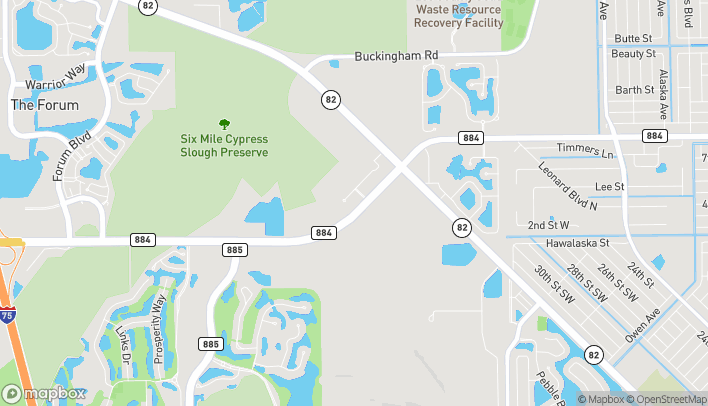 Map of 10993 Colonial Blvd in Fort Myers