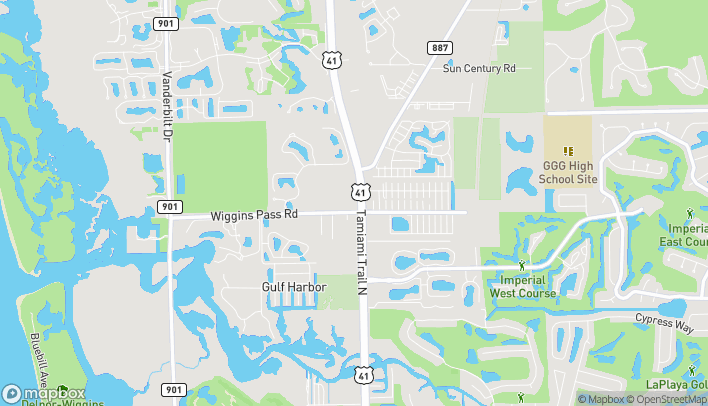 Map of 13555 Tamiami Trail North in Naples