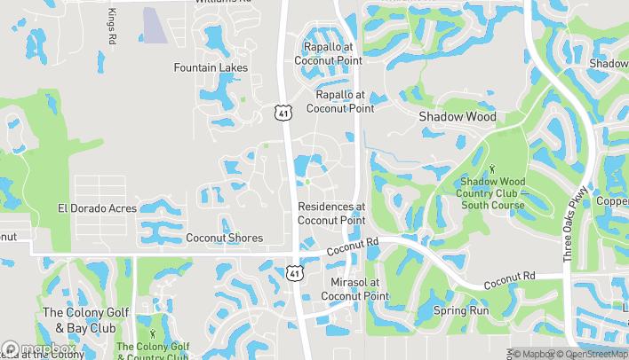 Map of 8076 Mediterranean Drive in Estero