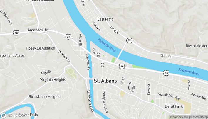 Mapa de 102 MacCorkle Ave en Saint Albans