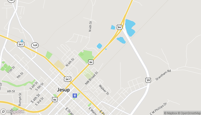 Map of 1093 North Macon Street in Jesup