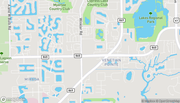 Map of 8646 Gladiolus Dr in Fort Myers