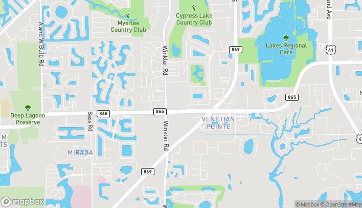 Mapa de 8646 Gladiolus Dr en Fort Myers