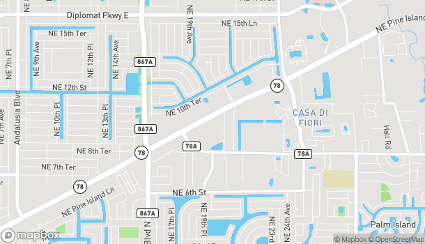Map of 1860 Pine Island Rd NE in Cape Coral
