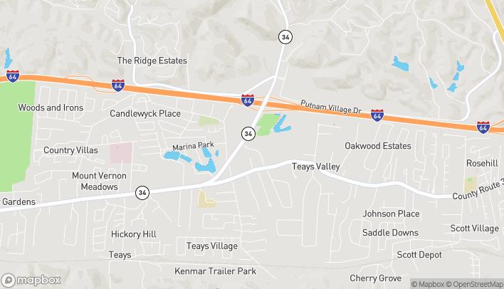 Mapa de 73 Great Teays Boulevard en Scott Depot