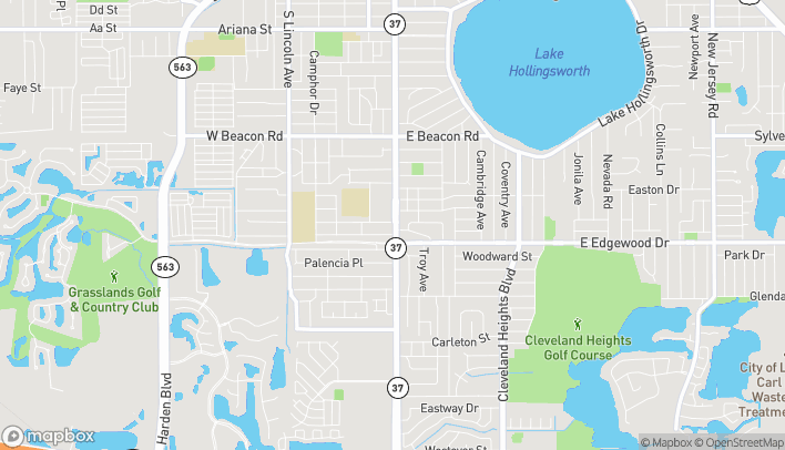 Map of 2803 S Florida Ave in Lakeland
