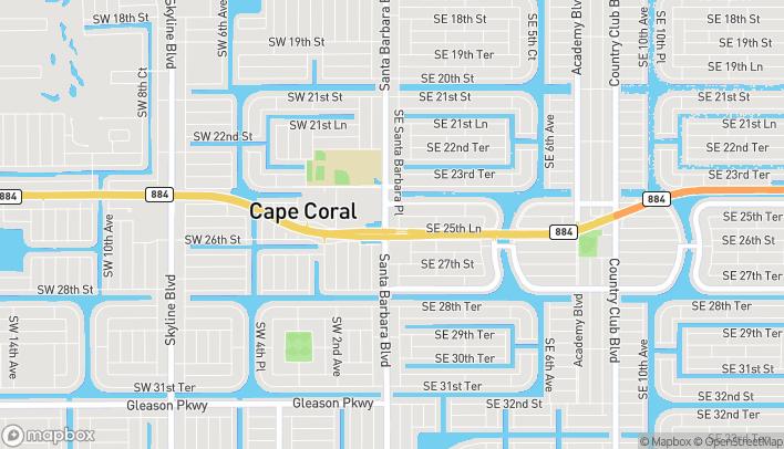 Mapa de 2529 Santa Barbara Blvd en Cape Coral