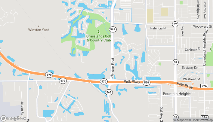 Map of 1384 Town Center Drive in Lakeland