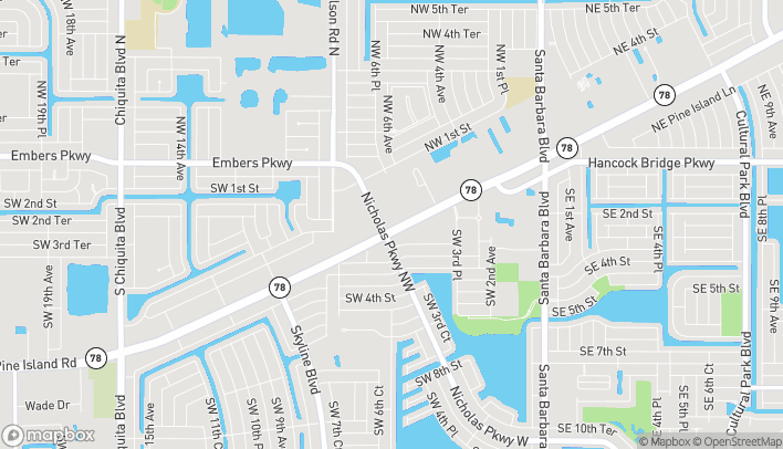 Map of 537 SW Pine Island Road in Cape Coral