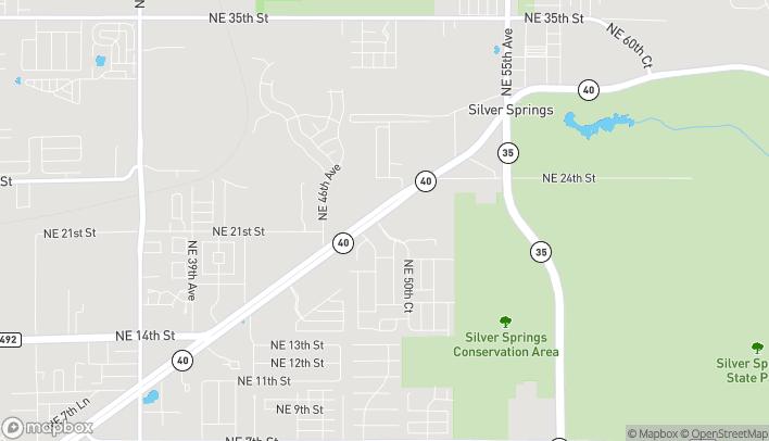 Map of 4914 E Silver Springs Blvd in Ocala