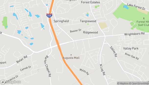 Map of 3422 Wrightsboro Rd in Augusta