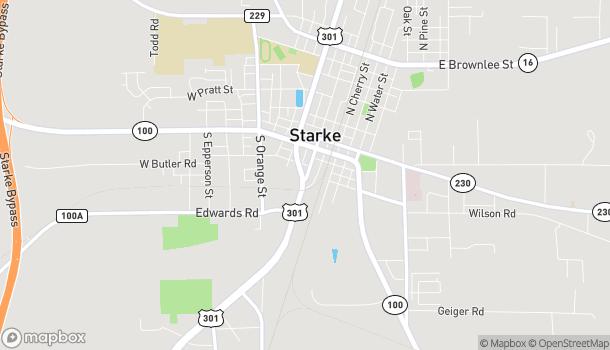 Mapa de 531 S Walnut Street en Starke