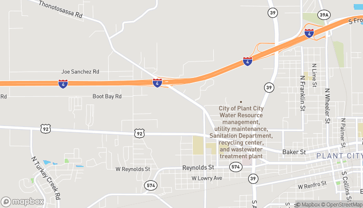Map of 2513 Thonotosassa Rd in Plant City