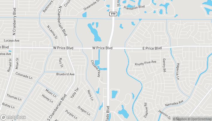 Mapa de 1560 Price Creek Way en North Port