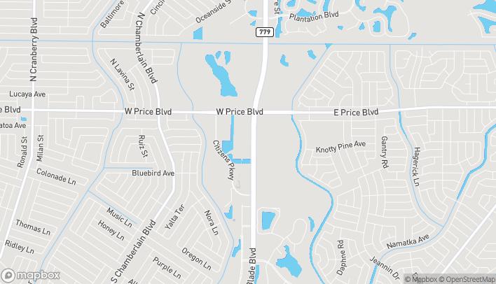 Mapa de 1562 Price Creek Way en North Port