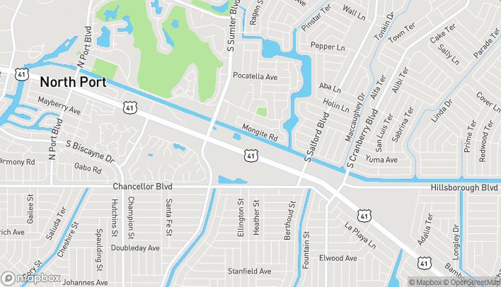 Mapa de 17195 Tamiami Trail en North Port