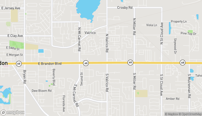 Map of 1956 East Brandon Blvd in Valrico