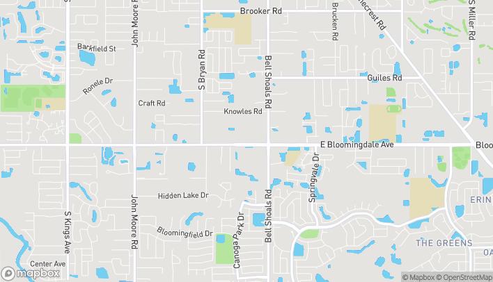 Mapa de 812 E Bloomingdale Ave en Brandon