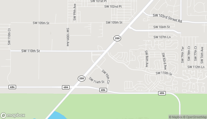 Map of 11100 SW 93rd Court Road in Ocala