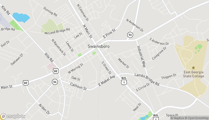 Map of 226 South Main Street in Swainsboro