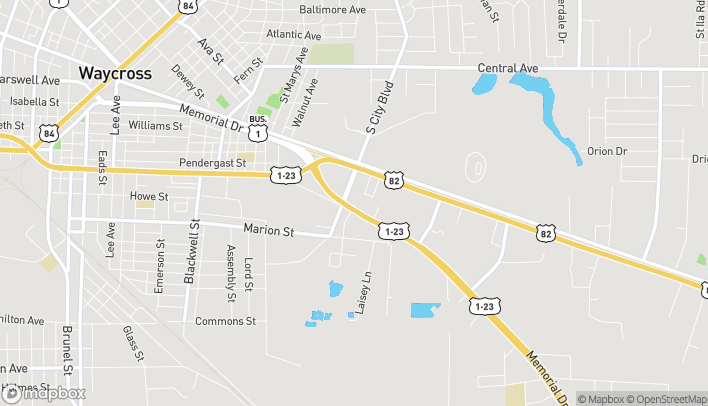 Map of 1907 Memorial Drive in Waycross