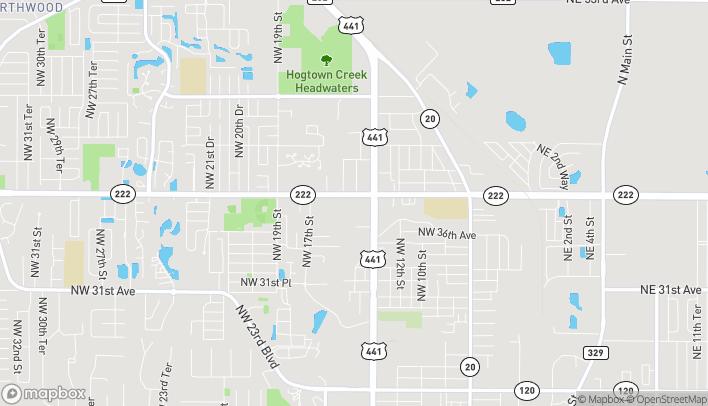Mapa de 3720 NW 13th Street en Gainesville