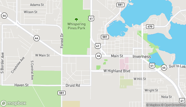 Map of 1078 W Main St in Inverness
