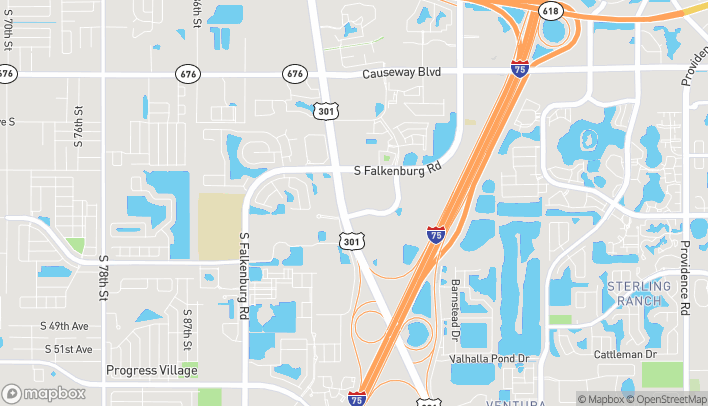 Map of 3914 South US Hwy 301 in Riverview