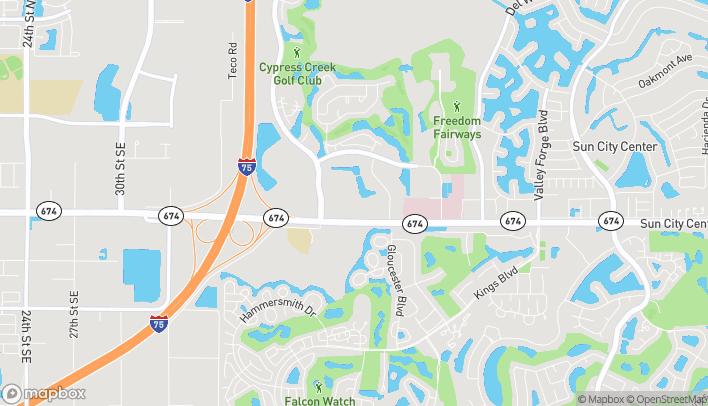 Mapa de 3846 Sun City Center Blvd en Ruskin