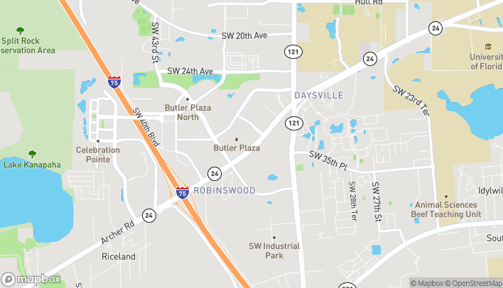 Map of 3626 SW Archer Road in Gainesville